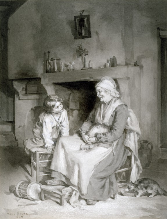 Interior with Old Woman and Boy