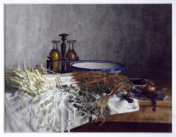Still Life with Cruets and Vegetables