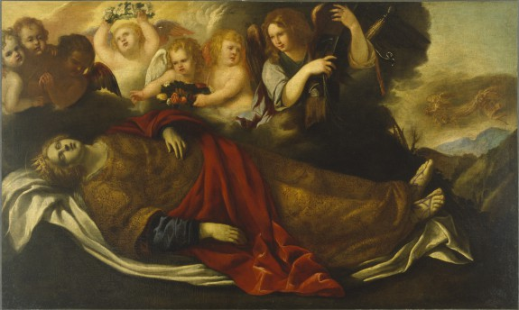 The Martyred St. Catherine of Alexandria with Angels