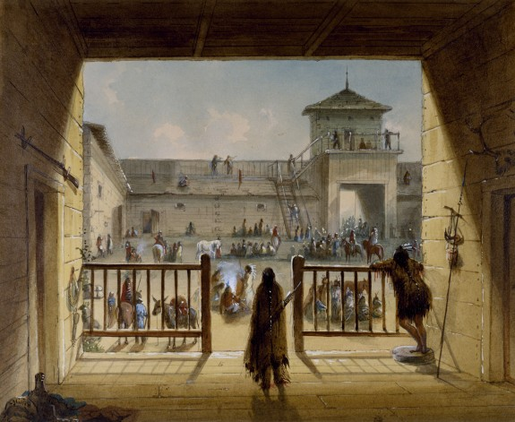 Interior of Fort Laramie