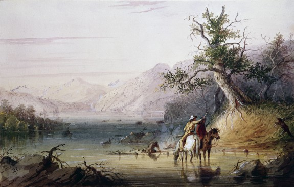 Trappers' Encampment on the
