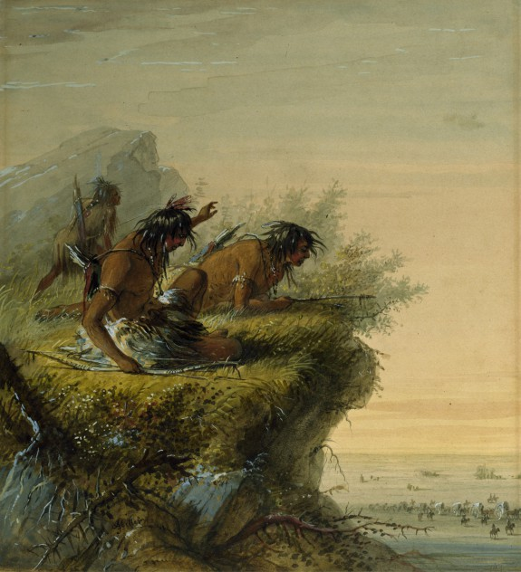 Pawnee Indians Watching the Caravan