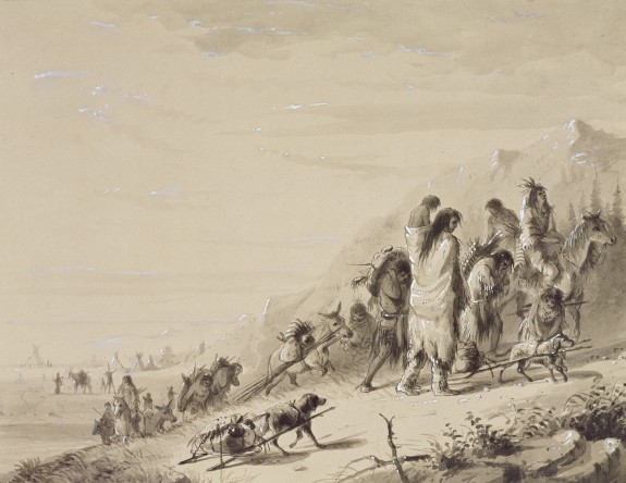 Pawnee Indians Migrating