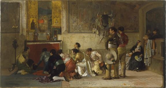 Toreros at Prayer before Entering the Arena