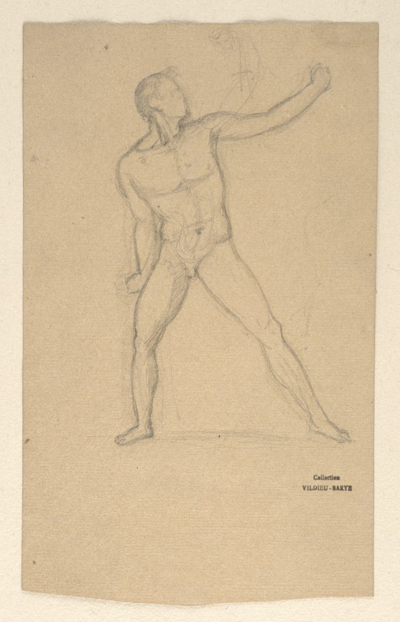 Sketch after an Antique Statue of an Athlete
