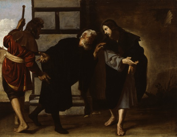 Christ and Two Followers on the Road to Emmaus