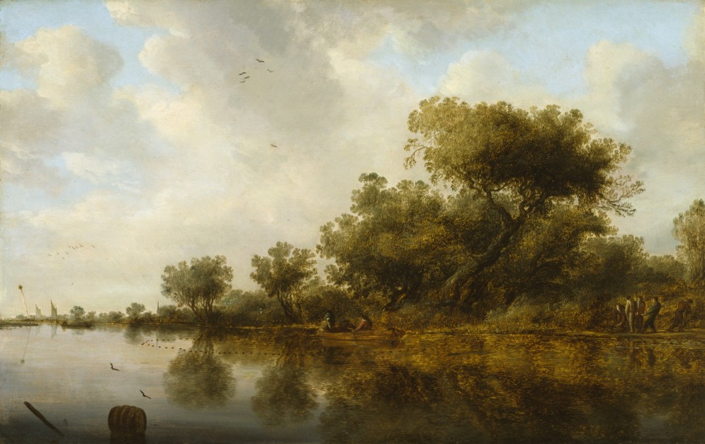 River View with Fishermen
