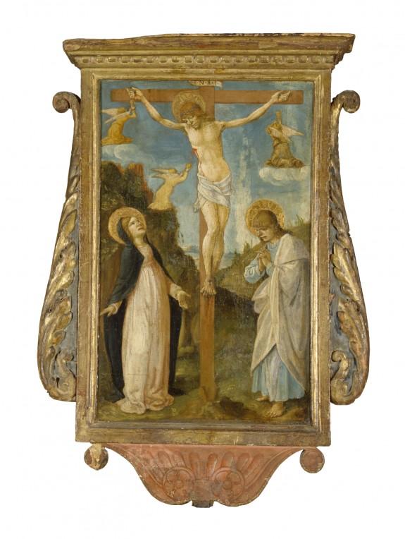 The Crucifixion; Saint Michael