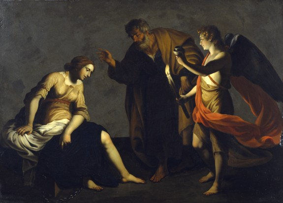 Saint Agatha Attended by Saint Peter and an Angel in Prison