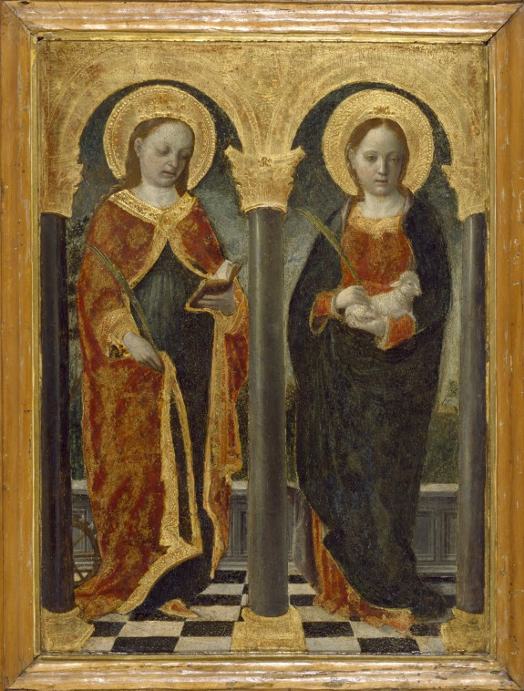 Saint Catherine of Alexandria and Saint Agnes