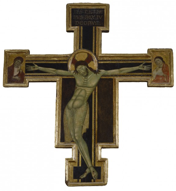 Crucifix with Mourning Virgin and St. John the Evangelist