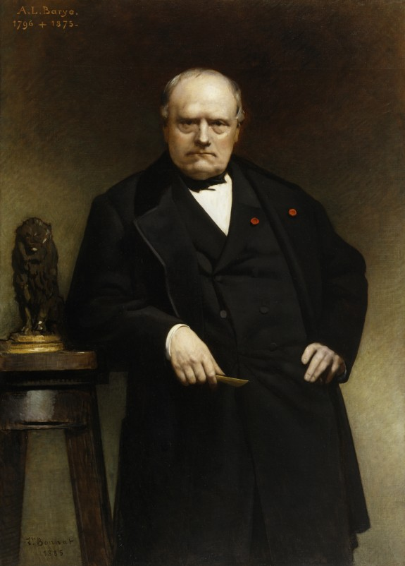 Portrait of Barye with a Wax Model of