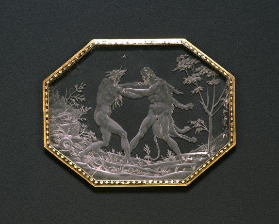 Plaque with Hercules and Achelous