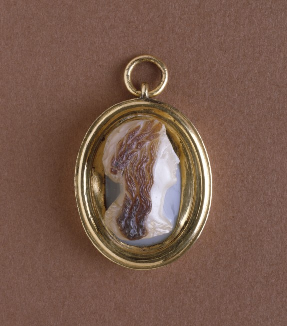 Cameo Portrait of a Wreathed Lady