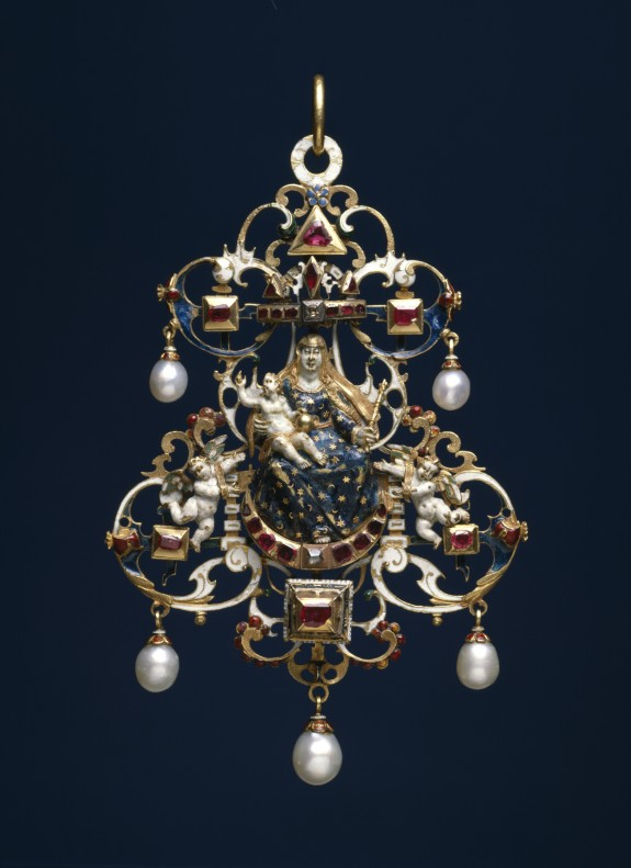 Pendant with the Virgin and Child Enthroned