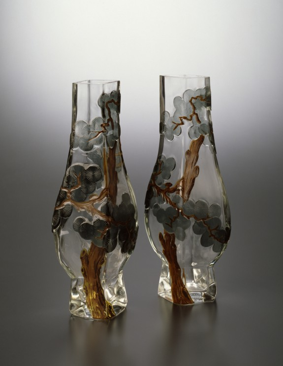 Pair of Pine Tree Vases