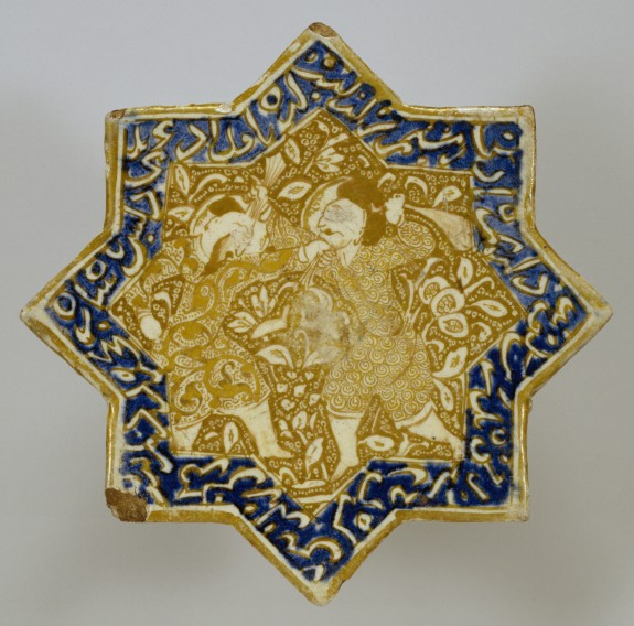 Star Tile with Combat Scene