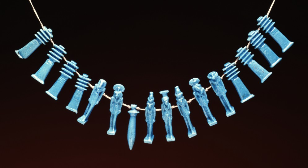 Group of 16 Amulets Strung as a Necklace