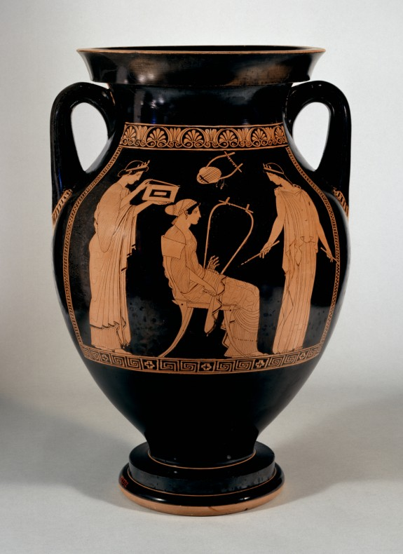 Amphora with Musical Scene