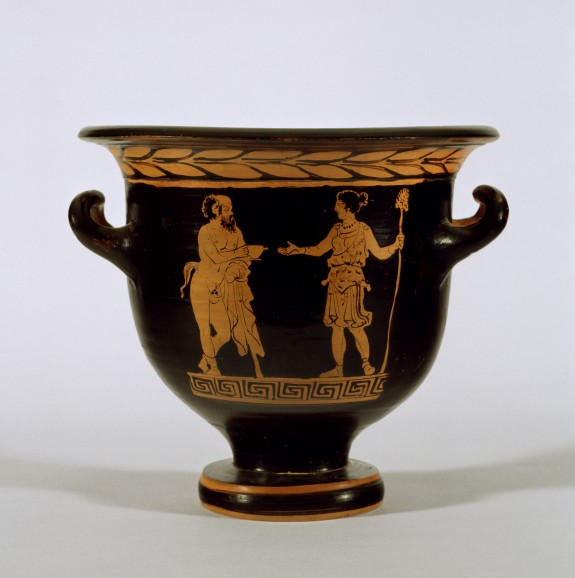 Bell Krater with Satyr and Maenad