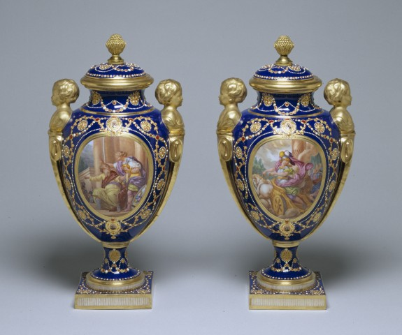 Tea At Trianon Jeweled Svres Vases