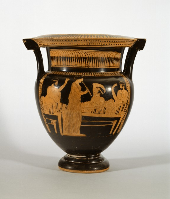 Column Krater With A Symposium Scene The Walters Art Museum