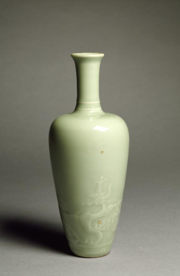Dragon Desk Vase with Celadon Glaze
