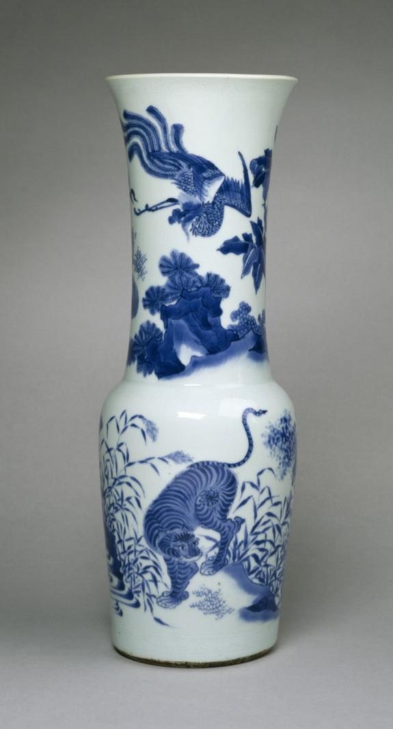 Beaker-Shaped Vase with Four Animals