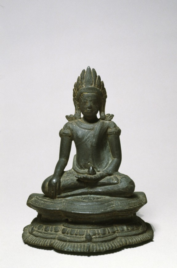 Seated Crowned Buddha in