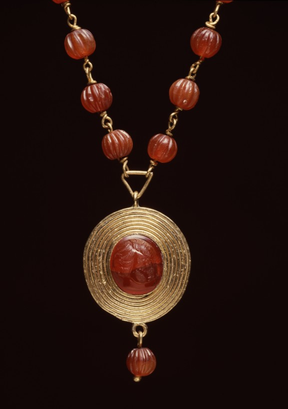 Necklace with Child's-Head Pendant
