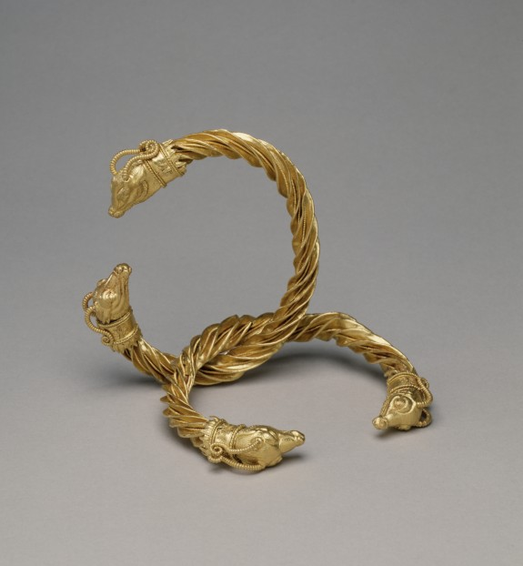 Pair of Bracelets with Antelope-Heads