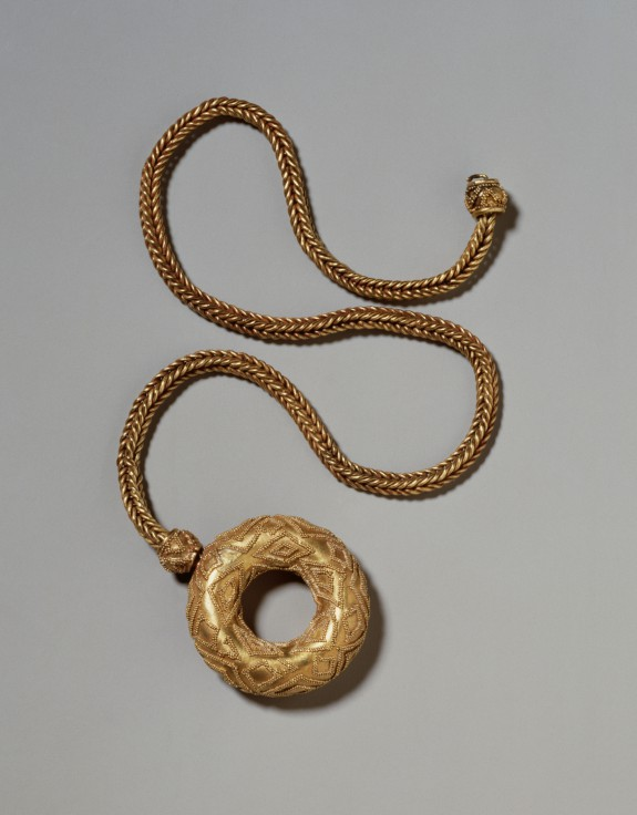 Circular Pendant on a Chain