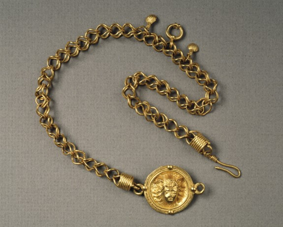 Necklace with Head of Helios or Medusa