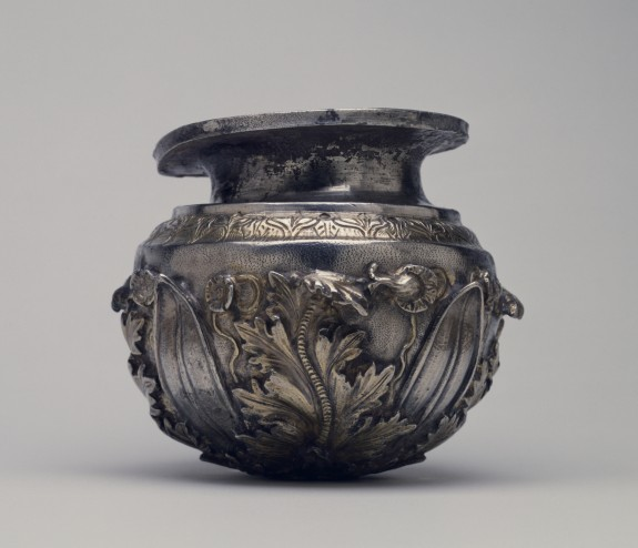 Vessel with Leaf Ornament