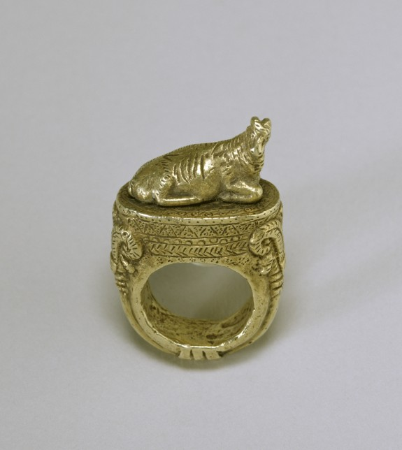 Ring with Reclining Ram
