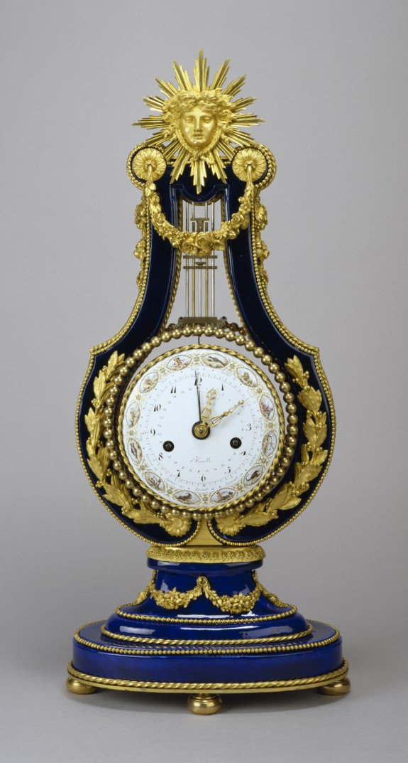 Mantel Clock in the Form of a Lyre