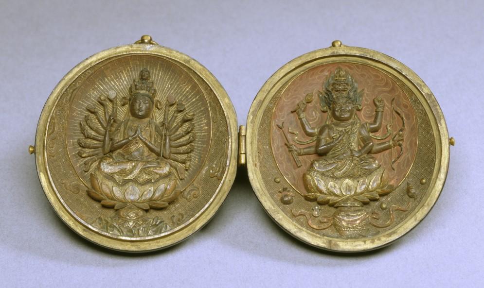Locket with Two Buddhist Deities