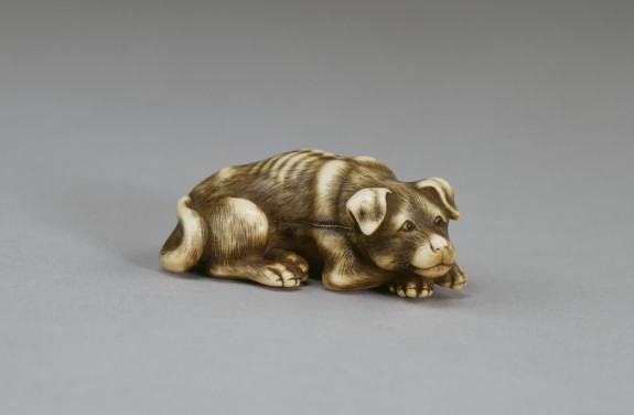 Netsuke in the Form of a Dog