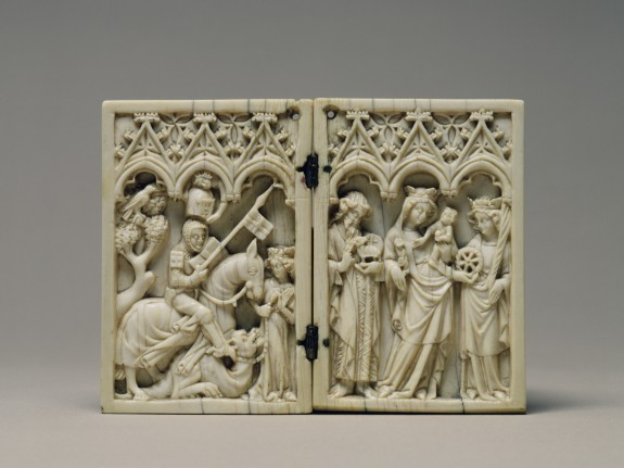 Diptych with Saint George and the Dragon, and the Virgin and Child with Saints