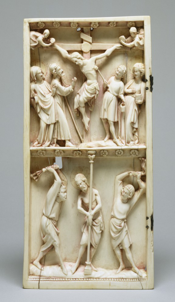Diptych Leaf with the Crucifixion and Flagellation