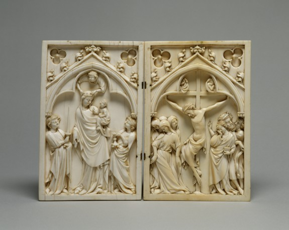 Diptych with the Virgin and Child, and the Crucifixion