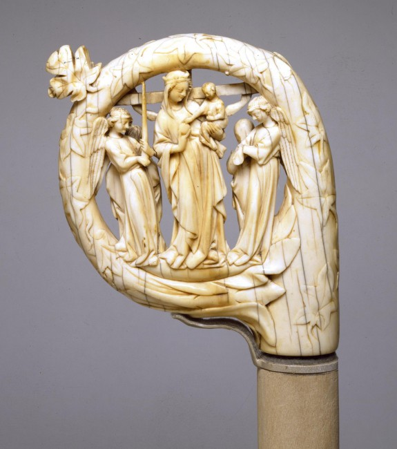 Crozier with the Virgin and Child, and the Crucifixion