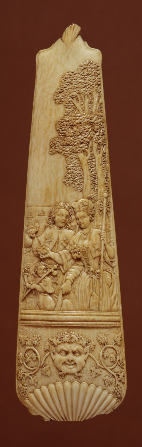Tobacco Grater with Pilgrims of Cythera