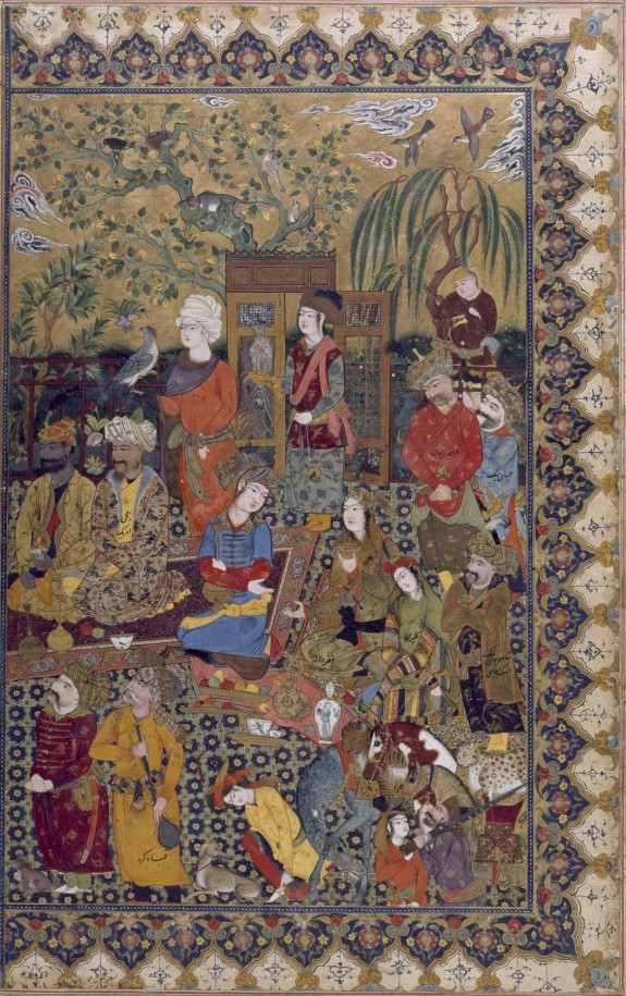 Single Leaf of Courtiers at a Reception of Shah `Abbas I