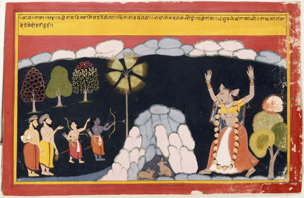 Rama Destroys the Ogress Tadaka
