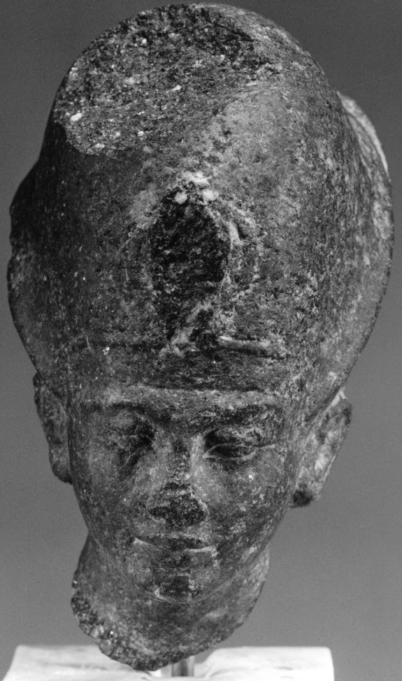 Head of a Statue of Tutankhamen (?) with the