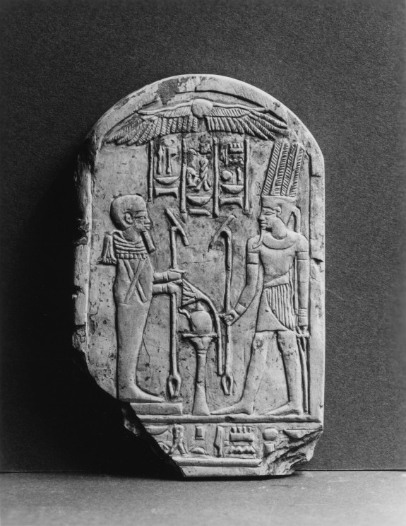 Stele with King and Ptah