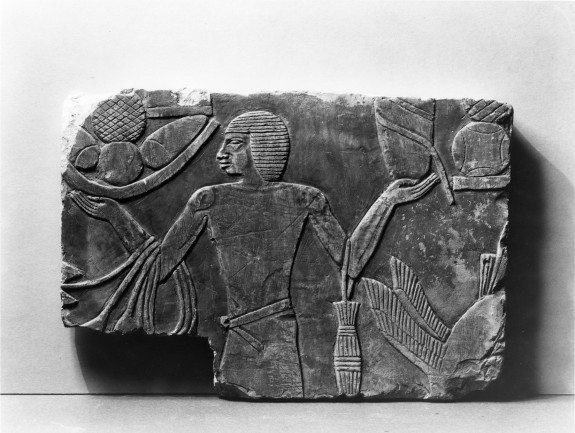 Wall Fragment with a Man and Offerings