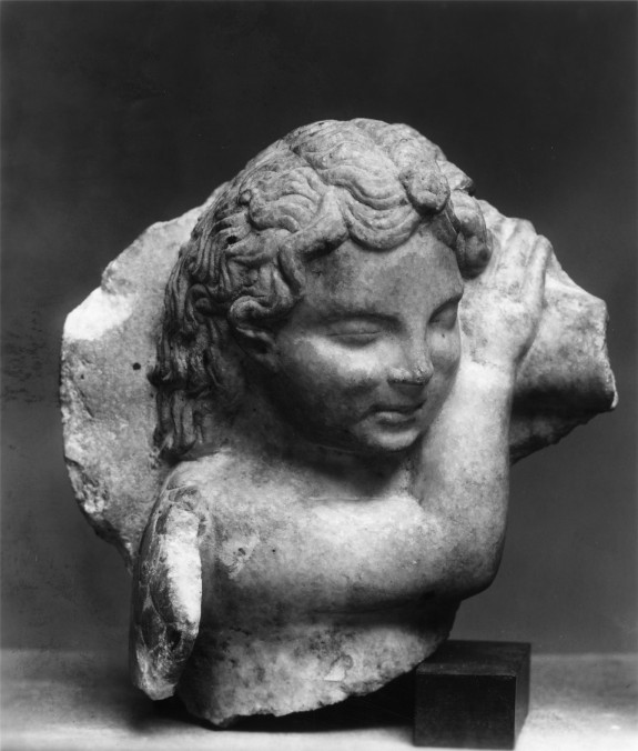 Head of a Sleeping Cupid
