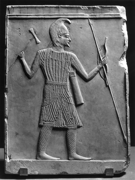 Scythian Warrior with Axe, Bow, and Spear